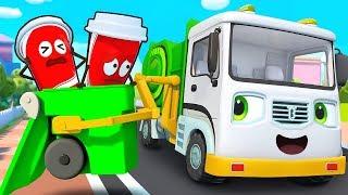Mobil Truk Sampah Selalu Membersihkan Sampah Di Jalan | Lagu Anak-anak | BabyBus Bahasa Indonesia