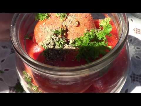 Консервация. Салат из помидор на зиму. Острые помидоры чили.
