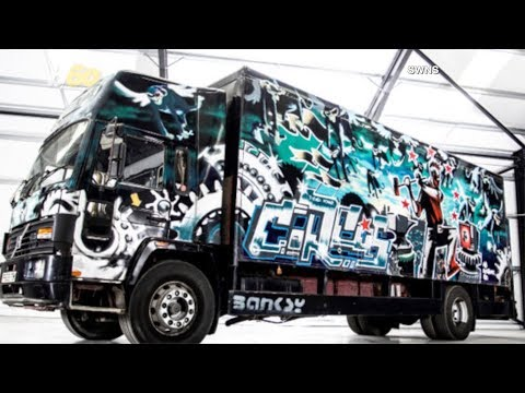 A Banksy Painted Truck is Up for Sale