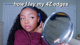 FINALLY!! THE SECRET FORMULA TO LAYING 4Z EDGES! Ft. UNice Hair