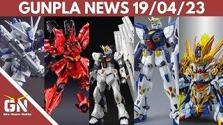 Gunpla News: RG NU Gundam, Sazabi, Ma Chao Barbatos, F90, HI NU, Gustav Karl, PBandai