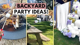 BACKYARD PARTY IDEAS! | Affordable Backyard Decor, Fire Pit, And Fun! | Dollar Tree & Walmart