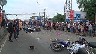 Long An: Tai nạn giao thông nghiêm trọng làm 20 người thương vong