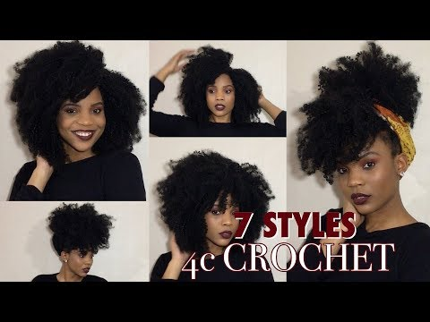 HOWTO: 7 Ways To Style Your 4C Coily Crochet Hair| X-Pression 4c Coily Loop| KadreannaShakay