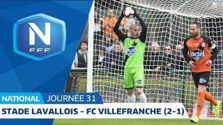 J31: Stade Lavallois - FC Villefranche B. (2-1), Le Résumé I National FFF 2018-2019