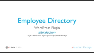 Employee Directory WordPress Plugin – Introduction
