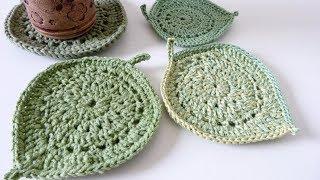 Pretty Leaf Coasters - Crochet Pattern