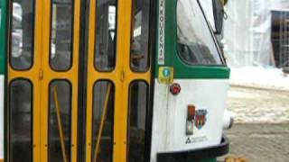 preview picture of video 'Tramvaje v Liberci (Trams in Liberec) Fugnerova, otáčení 3'