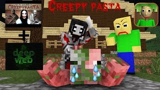 Monster School : Baldi's Creepy Pasta & Deep Web Challenge (Part 1)  - Minecraft Animation