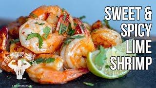 Sweet & Spicy Lime Shrimp / Camarones Dulces y Picantes de Limon Verde