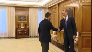 Su Majestad el Rey recibe a Don Santiago Abascal Conde, de VOX