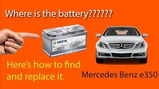 Replacing Battery in Mercedes Benz e350
