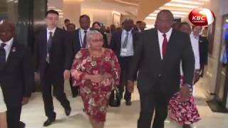 President Kenyatta arrives in Beijing for China-Africa Cooperation Summit