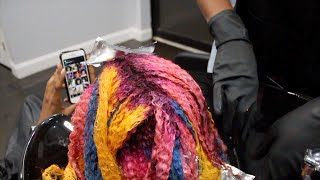 DYED MY 4a/4b/4c NATURAL HAIR FANTASY COLORS? | SALON VLOG