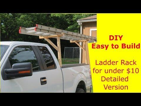 DIY Easy to Build Ladder Rack for Under $10 detailed version