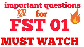 ignou fst 01 important questions for exam new || ignou books || chauhan videos ignou