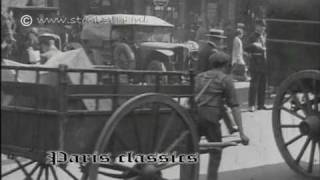 preview picture of video 'Paris traffic 1920's'