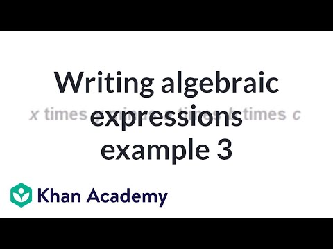 Writing expressions with variables