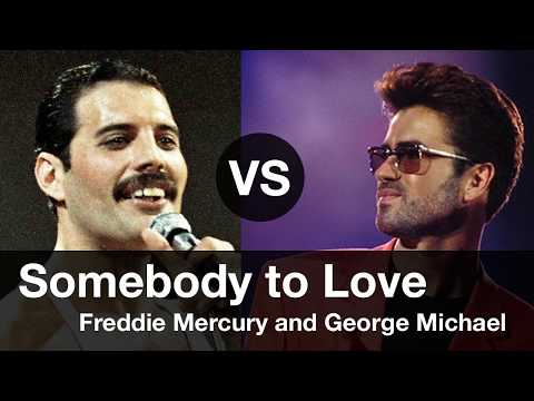 Somebody to Love, Compare Freddie Mercury vs George Michael. Somebody to Love 프레디 머큐리 vs 조지 마이클 비교