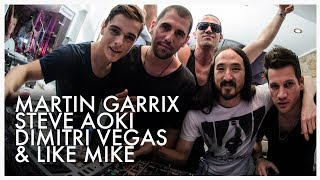 Steve Aoki Martin Garrix Dimitri Vegas and Like Mike at Caf Mambo Ibiza June 2014