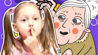 СТРАННАЯ БАБУЛЯ в нашем доме! Амелька и Папа заигрались в игру! Теперь малыш видит и слышит голоса!