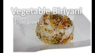 Vegetable Biriyani for Party | Bulk Cooking | Cooking for Crowd | RinkusRasoi