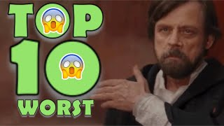 WORSE THAN STAR WARS: THE LAST JEDI? TOP TEN HORRIBLE THINGS IN HISTORY TO HAPPEN ON DECEMBER 15th!