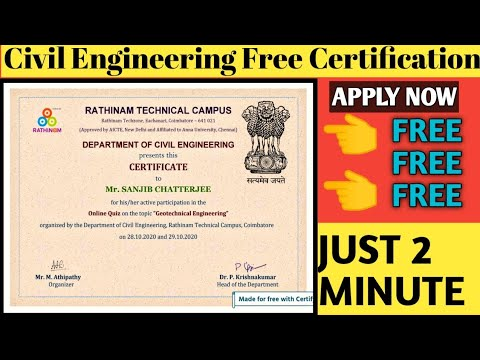 Civil Engineering- Course With Certificate | Free Certificate | How to ...