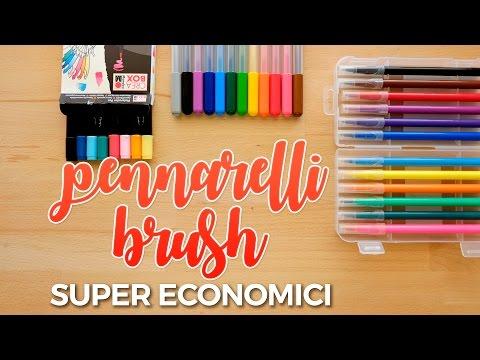 Pennarelli Brush SUPER ECONOMICI per iniziare con il BRUSH LETTERING - Proviamoli insieme
