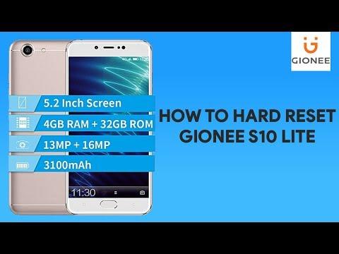 How To Hard Reset Gionee S10 Lite -  [romshillzz]