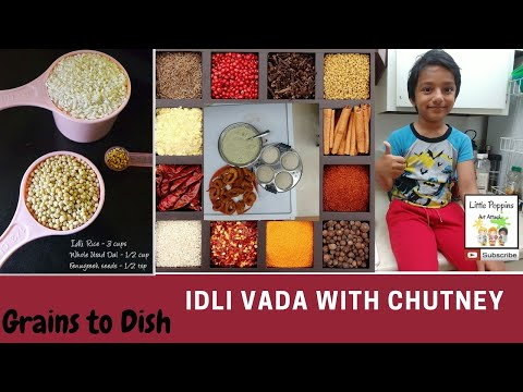 Indian Breakfast Dishes ( Idli , Vada and Chutney)