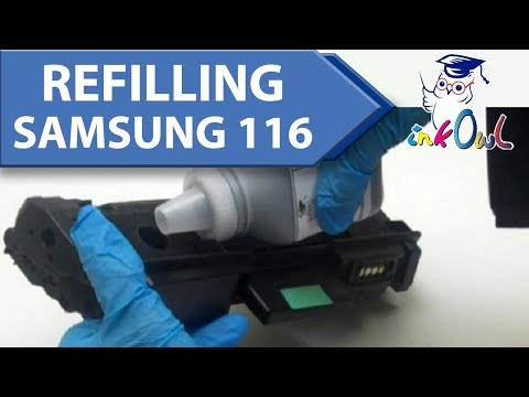 How to Refill SAMSUNG MLT-D116S, MLT-D116L (116 series) Toner Cartridges
