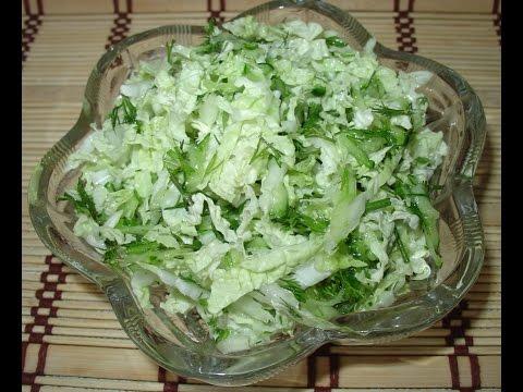 Потрясающе вкусный салат из ранней белокочанной капусты