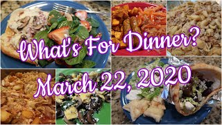 What's For Dinner? March 22, 2020   Cooking for Two   Pantry Meals   Easy Weeknight Meals
