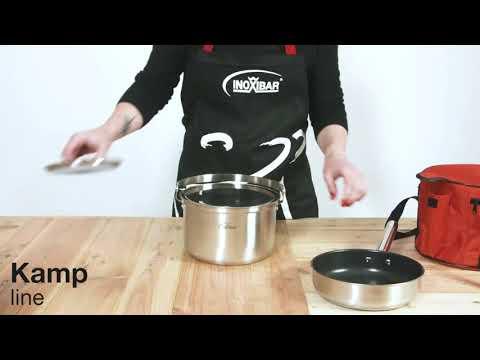 Batería de cocina transportable de 5 piezas Kamp Inoxibar