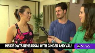Charli James, inside the 'Dancing with the Stars' rehearsal with Ginger Zee and Val Chmerkovskiy
