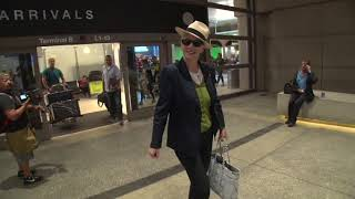 Singer Annie Lennox Of The Eurythmics Arrives In Los Angeles