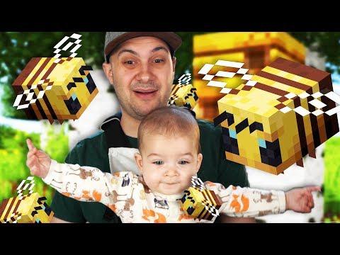 We found BEES! (Father Son Minecraft Survival)