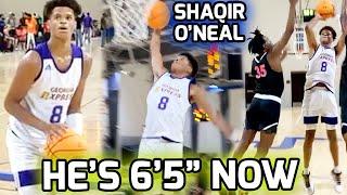 "6'5"" Shaqir O'Neal Gets BUSY In Atlanta AAU Action! Getting Ready For His SENIOR SEASON 💯"