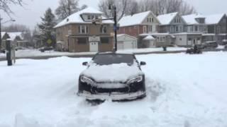 Tesla in snow 2