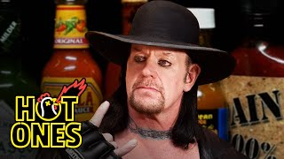 The Undertaker Takes Care of Business While Eating Spicy Wings | Hot Ones