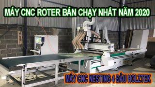 Máy CNC Nesting 4 Đầu Holztek R1325-R4 | Máy CNC Router Cắt Ván MDF, MFC, Laminate ...