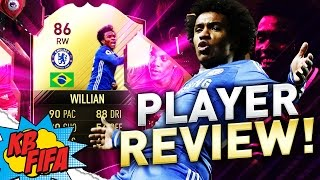 FIFA 17 IN FORM WILLIAN (86) PLAYER REVIEW! | FIFA 17 ULTIMATE TEAM