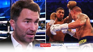 Eddie Hearn reacts to Anthony Joshua's defeat to Oleksandr Usyk & discusses the rematch