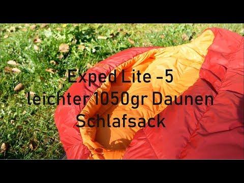 Exped Lite -5 large  leichter 1050gr Daunenschlafsack