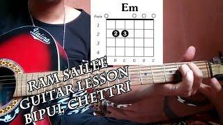 Ram sailee guitar lesson in easy way||sajilo guitar lesson