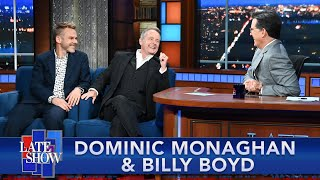Dominic Monaghan & Billy Boyd Perform A Hobbit Drinking Song With Stephen Colbert thumbnail