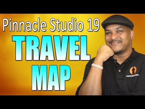 Pinnacle Studio 19 Ultimate | Travel Line on a Map Tutorial