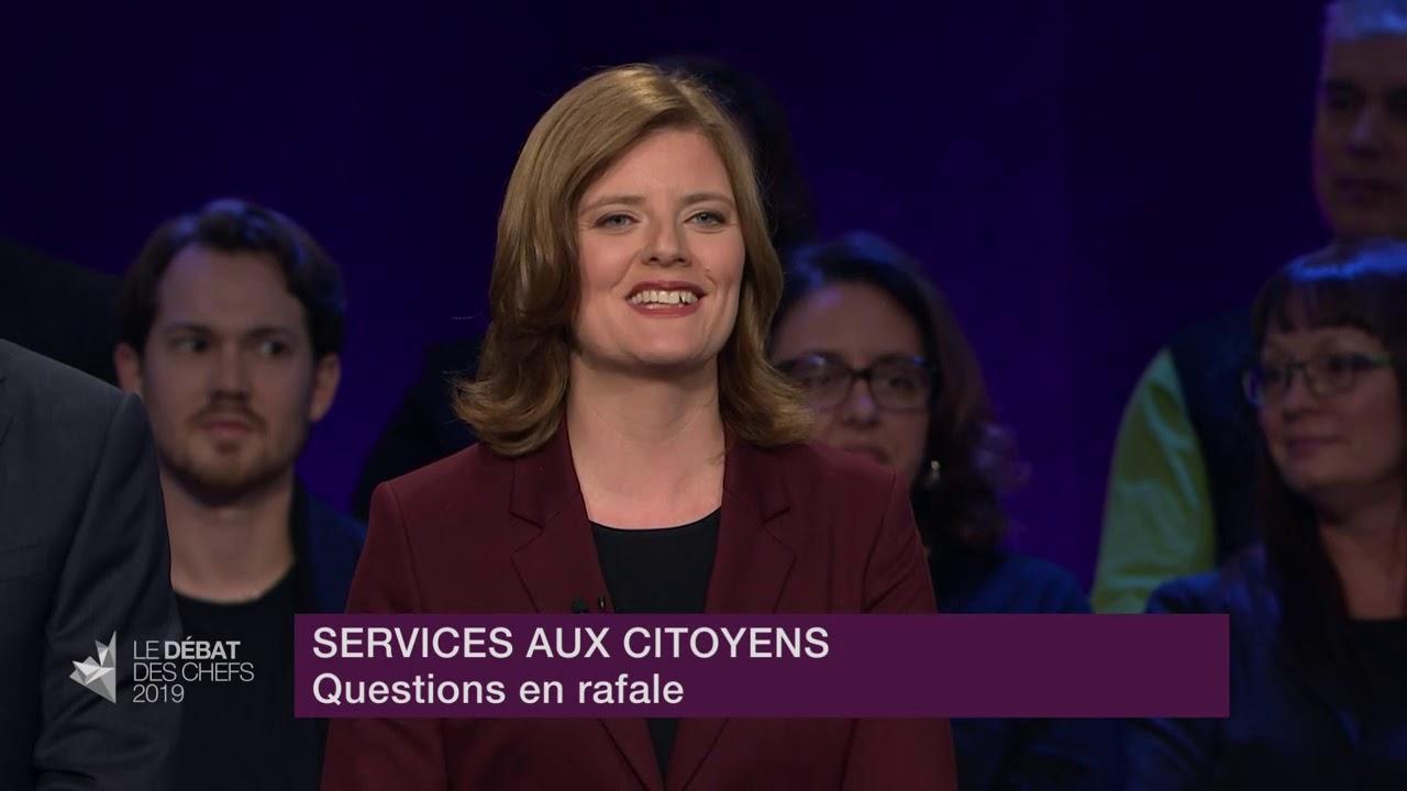 Les chefs répondent à la question du modérateur sur le train rapide entre Québec et Toronto