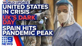 Coronavirus: US unemployment surges, Spain confirms 10,000 dead | Nine News Australia